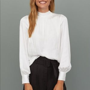H&M Wide Cut Blouse - White/Cream